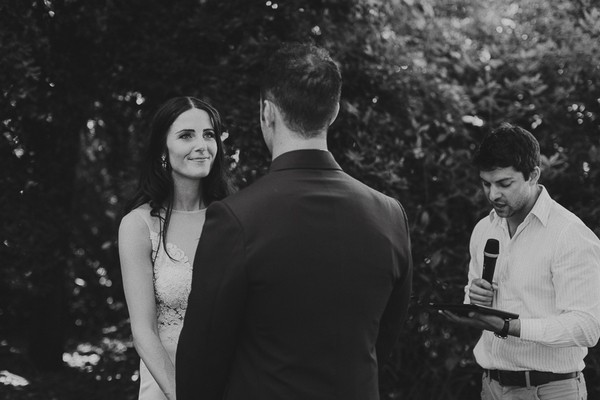 Outdoor ceremony at Natte Valleij wedding