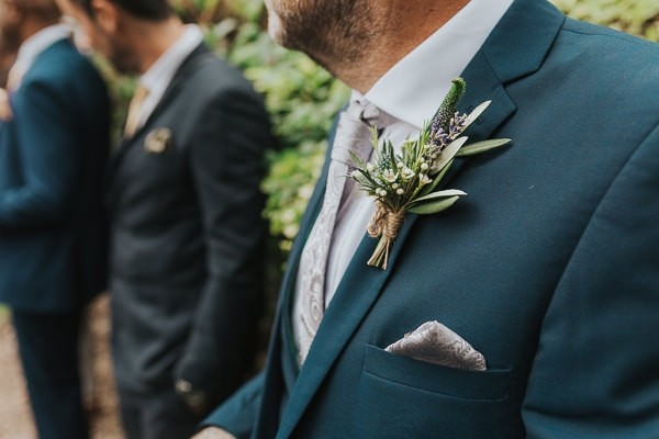 Buttonhole with lavender