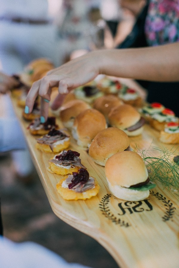 Burger wedding canapés