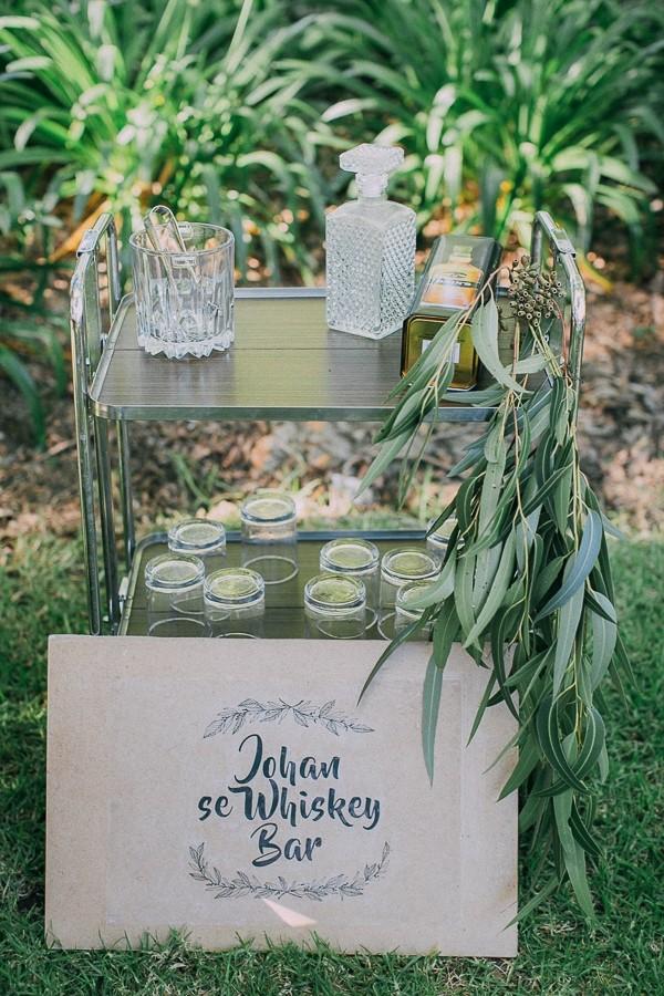 Wedding whisky bar