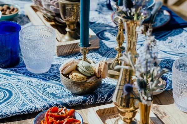 Macarons on wedding table