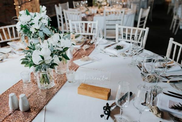 Sorrento wedding table name sign