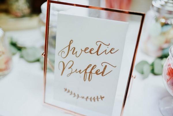 Sweetie buffet sign