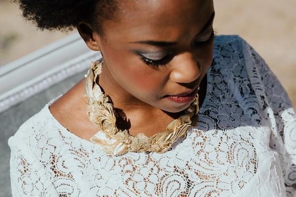 Bride's gold necklace