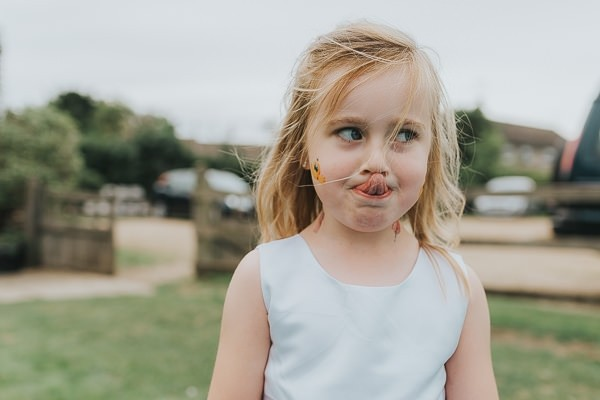 Child sticking tongue out