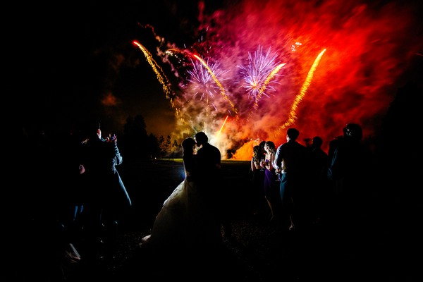 Wedding fireworks display - Picture by Damion Mower Photography