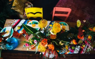 Day of the Dead Hen Party with Colourful Florals