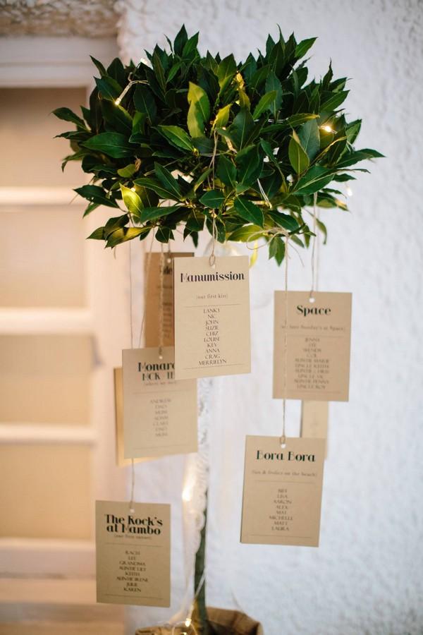 Bay Tree Wedding Seating Plan