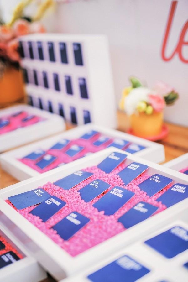 Blue Wedding Escort Cards