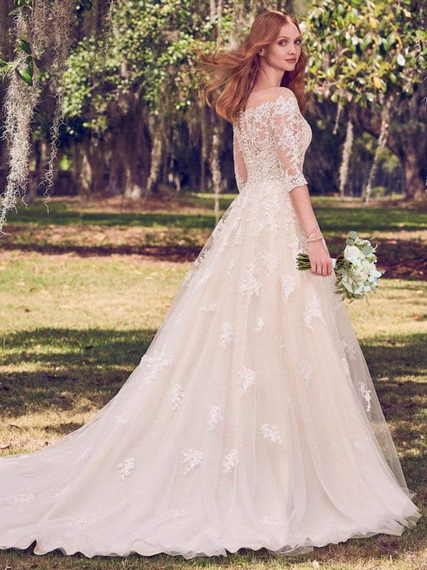 Bree Ball Gown Wedding Dress with Train