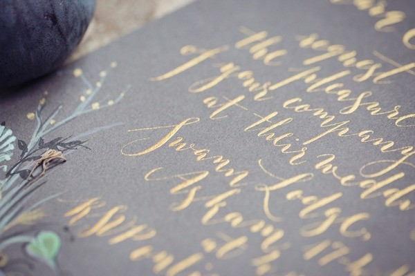 Calligraphy Writing on Wedding Invitation
