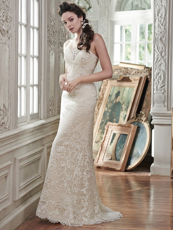 Clara Wedding Dress with Sweep Train