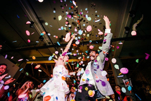 Confetti Shower on Dance Floor