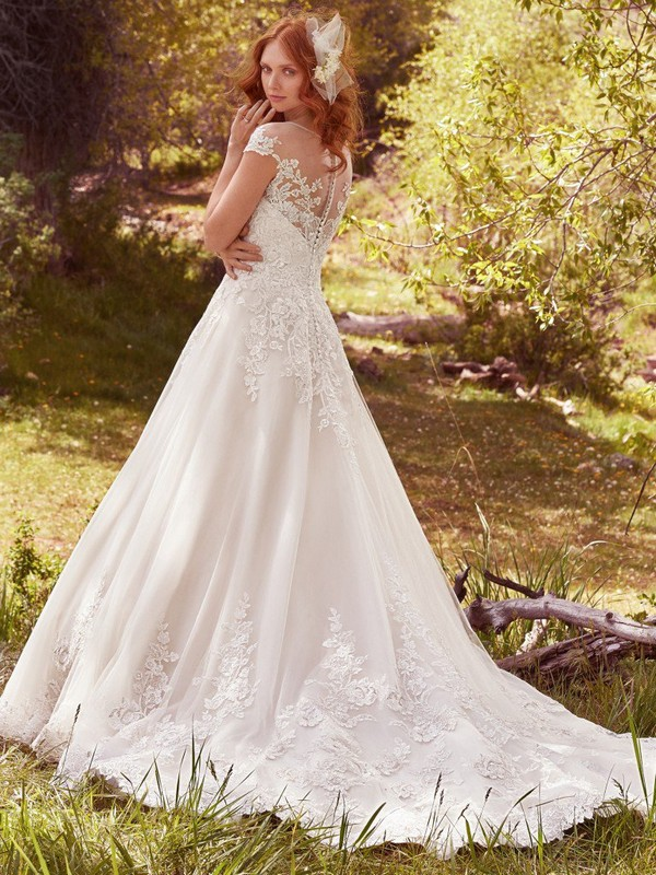 Lena Wedding Dress with Cathedral Train
