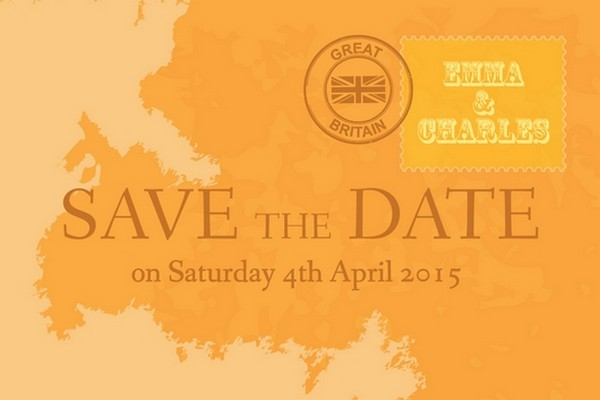 Map Travel Theme Save the Date