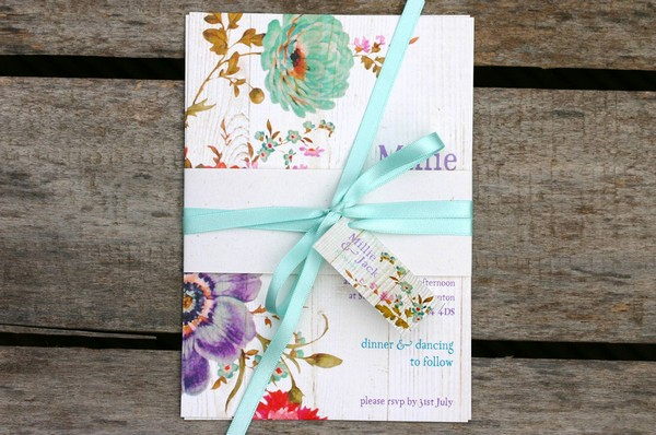 Millie Floral Wedding Invitation