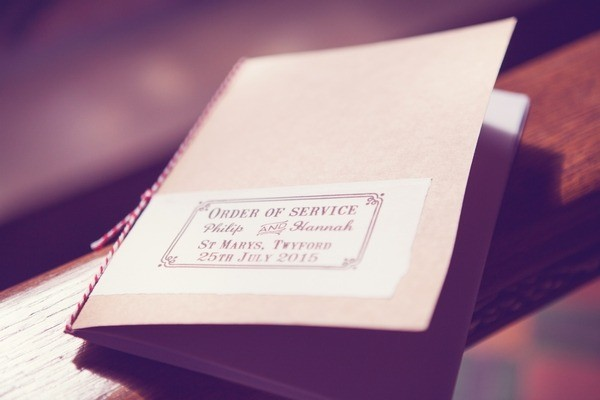 Order of Service Book