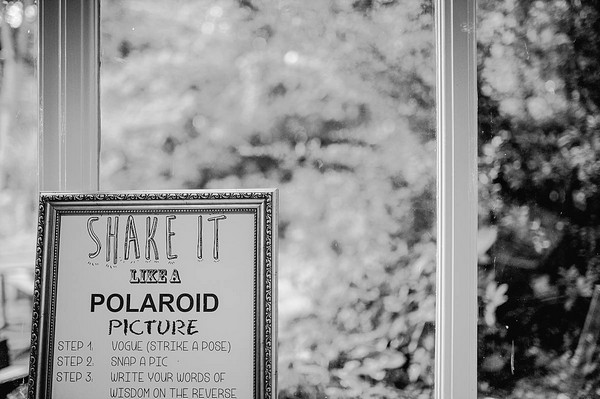 Shake It Like a Polaroid Picture Wedding Sign