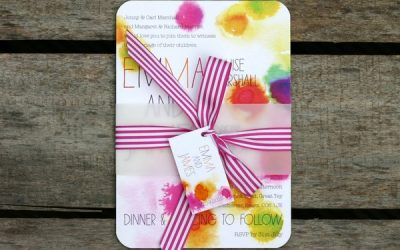 Bright and Bold Wedding Stationery