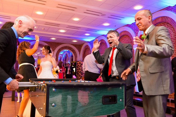 Wedding Guests Playing Table Football Wedding Game