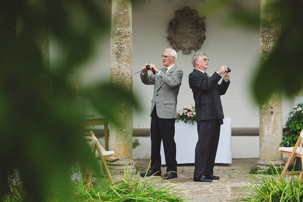 Uncle Bobs Taking Pictures at Wedding