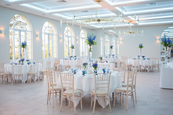 Wedding Breakfast Tables in Orangery at Deer Park Country House Hotel