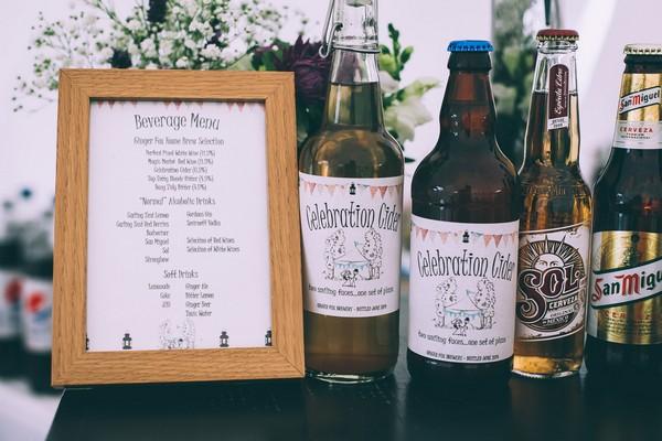 Wedding Drinks Menu