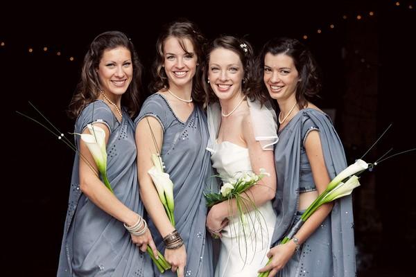 Wedding Group Shot of Bride and Bridesmaid