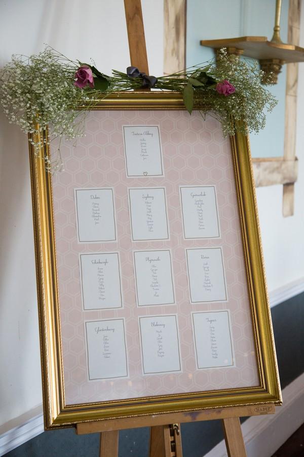 Wedding Seating Plan on Easel