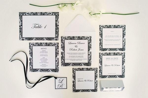 Wedding Stationery Suite with Monogram