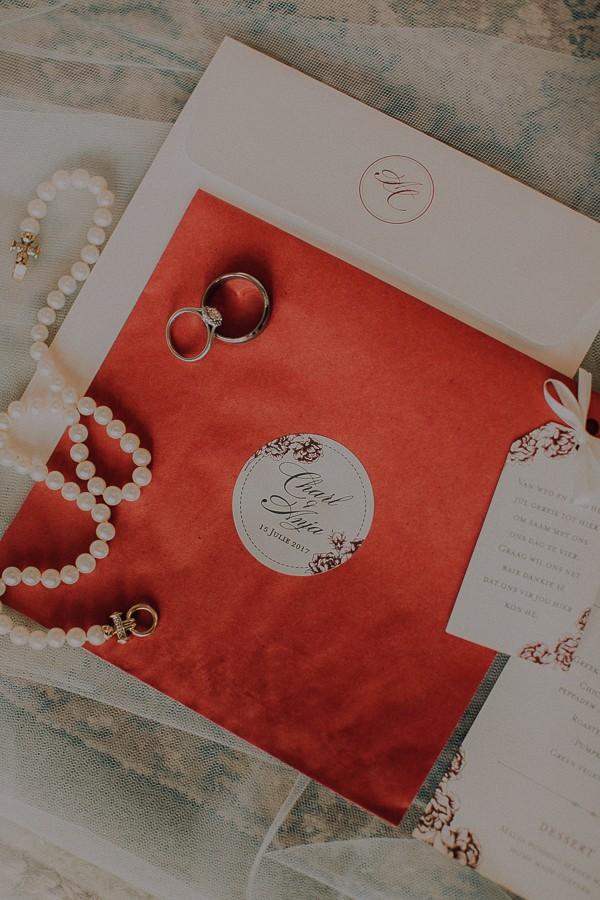 Wedding invitation and jewellery