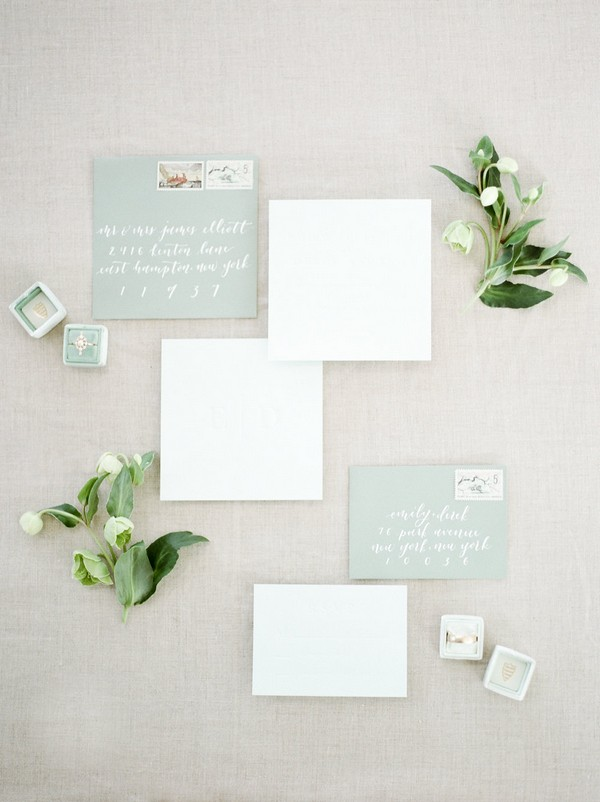 Simple, elegant wedding stationery