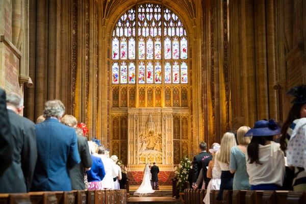 Wedding ceremony in Sherborne Abbey