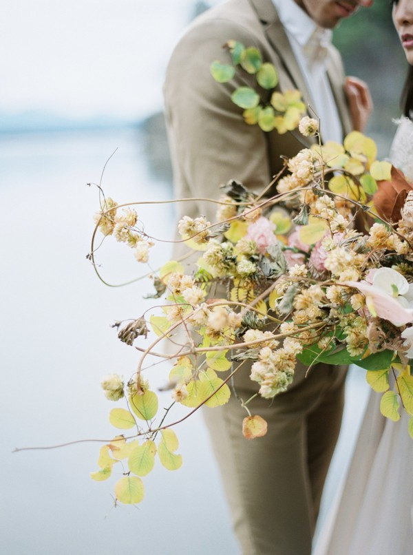 Foraged bridal bouquet