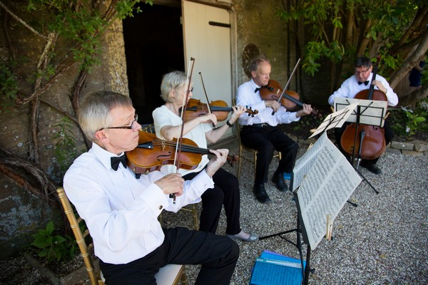 String quartet at wedding