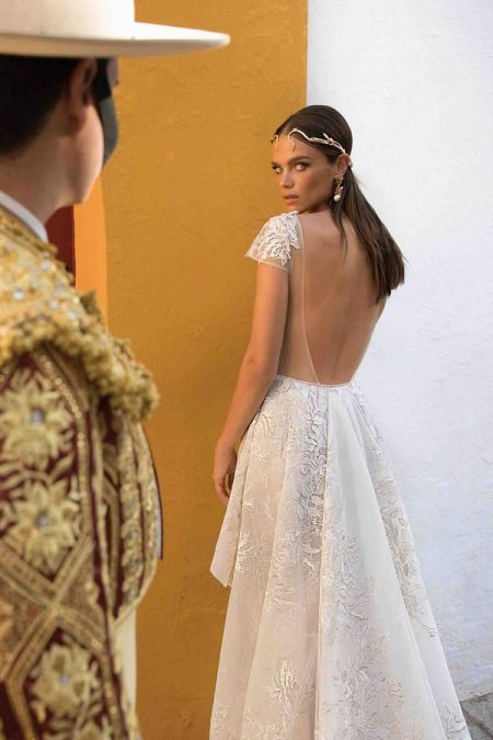 Back of 18-107 Wedding Dress from the BERTA Seville F/W 2018 Bridal Collection