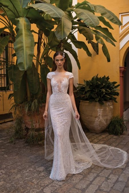 18-114 Wedding Dress with Train from the BERTA Seville F/W 2018 Bridal Collection