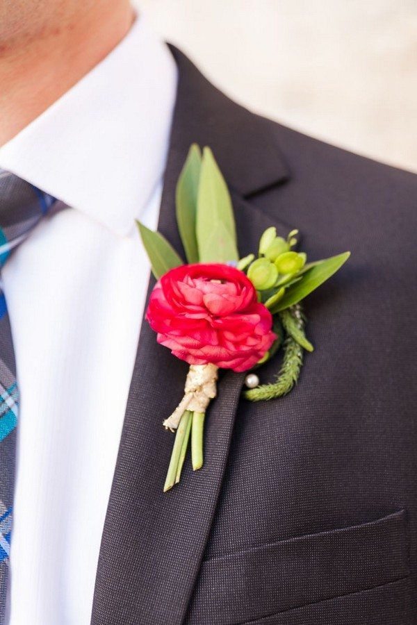 Bright flower buttonhole