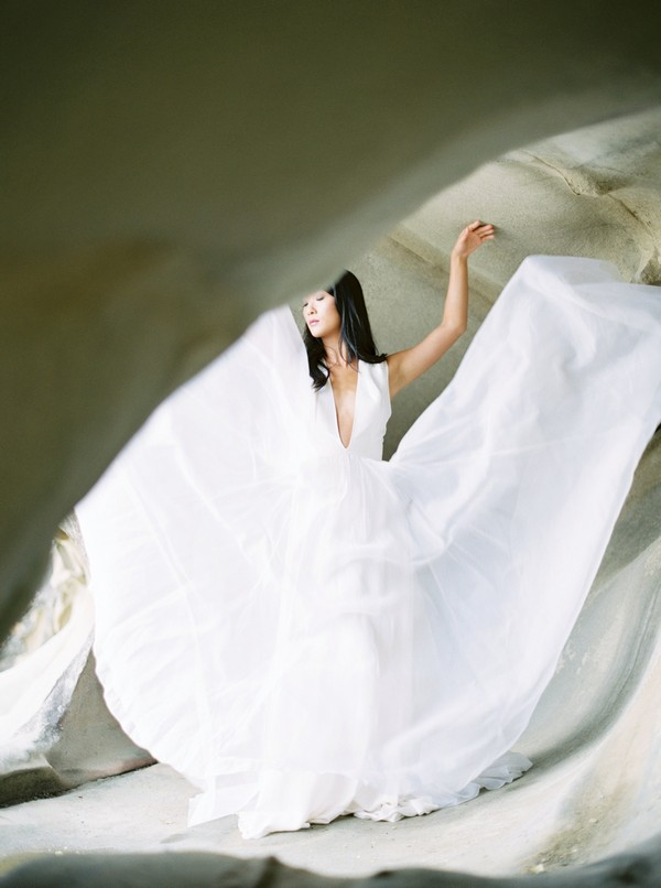 Bride in cave