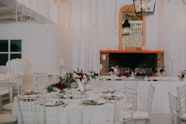 Wedding tables at Vondeling vineyard