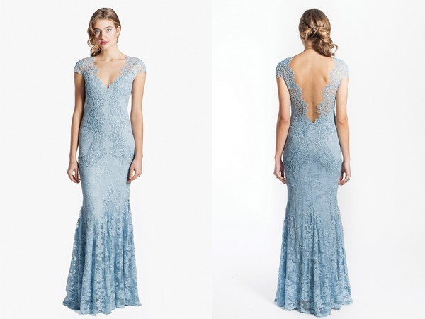 2241 Pale Blue Bridesmaid Dress from Olvi's