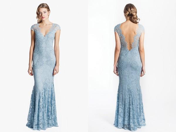 2241 Pale Blue Bridesmaid Dress from Olvi's
