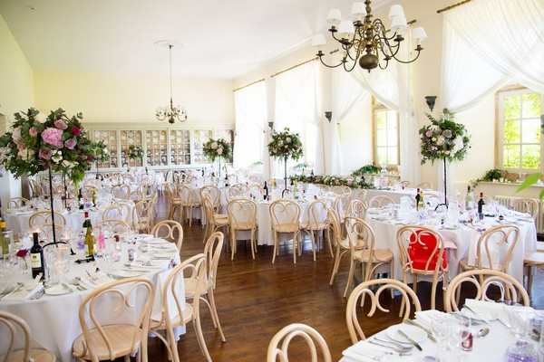 Wedding tables in Brympton House