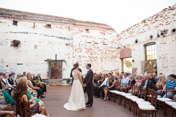 Wedding ceremony at The Engine Room, Georgia