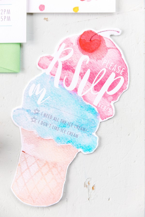 Ice cream hen party RSVP