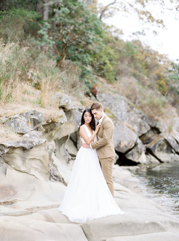 Bride and groom on Galiano Island