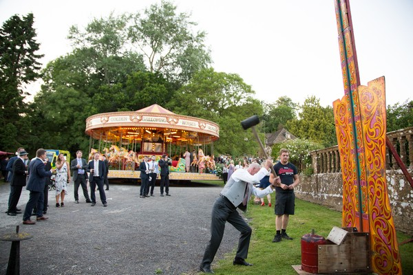 Funfair at Brympton House wedding