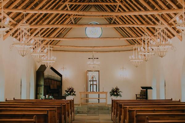 Inside St. Clement's Chapel at Vondeling vineyard