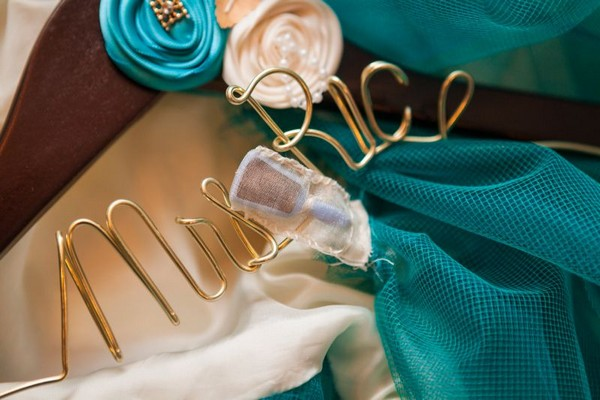 Personalised wedding coat hanger
