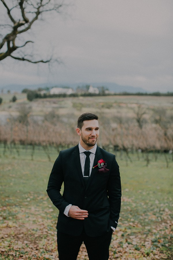 Groom at Vondeling vineyard